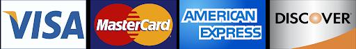 Visa Logo, Mastercard Logo, American Express Logo, Discover Logo